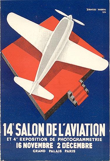 brochure 14e salon de l 39 aviation 1934