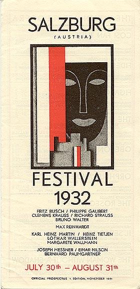 """Salzburg Festival 1932"""