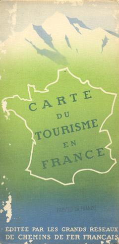 """""""Carte du Tourisme en France,"""" 1936"""