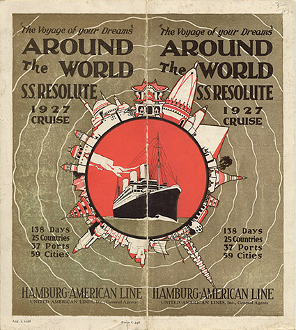 Around the world s s resolute 1927 cruise for All around the world cruise